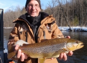 Darren with an awesome 22-inch brown trout