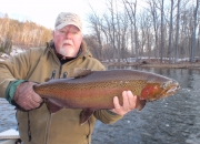 Bert with a monster steelhead from the Muskegon river
