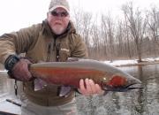 Bert with a massive crimson red buck
