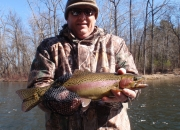 Dave with a great 20inch Muskegon rainbow trout
