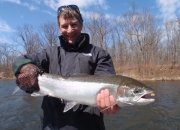 Mark with a beautiful spring steelhead