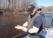 Jeff with a nice rainbow trout