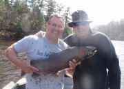 Jeff & Dave with a nice male steelhead