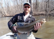 Blake with a nice steelhead
