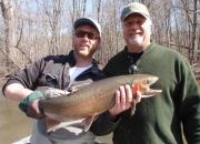 Blake with a great male buck steelhead