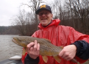 Herb with a great Muskegon river brown trout