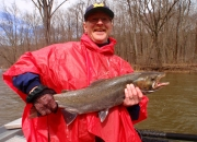 Herb with a Muskegon river steelhead