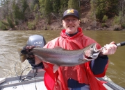 Herb with a beautiful spring steelhead