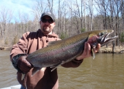 Brian with another nice steelhead