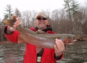 Ed with another nice steelhead