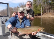 Dave & Bert with the last steelhead of the day