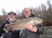 Bert with a nice male steelhead