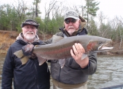 Bert with another nice male steelhead