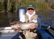 Mark With An Monster 22 inch Rainbow Trout