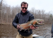 Paul With A Hard Fighting 2014 Spring Steelhead