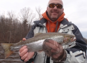 Scott with an awesome 22 inch rainbow trout