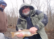 Don with a fat Muskegon River Brown Trout