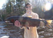 Alex with a nice steelhead