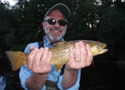 Ron with a nice brown taken with a nymph on Sat, July 5th
