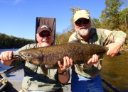 Dave & Bert with a Muskegon River Salmon