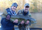 Kristen's First Ever Muskegon River Salmon Taken On A Fly Rod