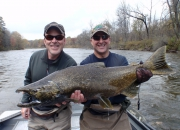 Jerry (never fished before) with his 30lb. Muskegon River King Salmon
