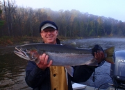 Scott with an outstanding 14lb 30inch fall steelhead