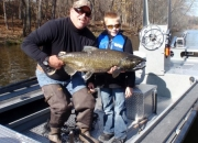 Future Fly Fire Guide Jordan with his awesome fall salmon on a fly rod
