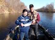 Kirk & His son with first ever steelhead