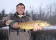 Scott holding his outstanding 21inch Muskegon River Brown