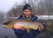 Joe with an outstanding Muskegon River Brown