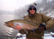Man of Steel (Spencer) w/his 15lb Muskegon River Steelehad