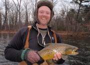 Blake with a awesome Muskegon river brown trout