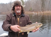 Ed with a nice Muskegon river brown trout
