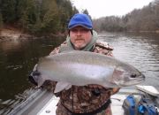Scott with another Muskegon River Fall Steelhead