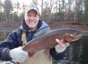 Jim with a Muskegon river steelhead