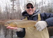 Jim with a great Muskegon river brown