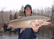 Brian with a really nice Muskegon steelhead