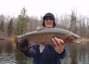 Brian with another really nice steelhead