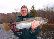 Charles with a nice Muskegon river steelhead