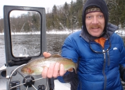 Mark with a Muskegon River Rainbow Trout