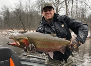 Kirk with a steelhead on steroids!