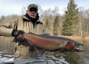 Bob with a 34inch Monster Steelhead