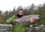 Brian with a trophy size spring steelhead