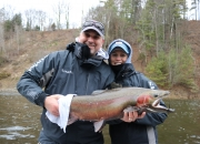 Ted & Julie with a massive Muskegon River steelhead