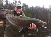 Bert with an outstanding 20 pound steelhead