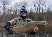 Seamus with the Stars & Stripes Steelhead