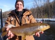 Muskegon River Winter Brown