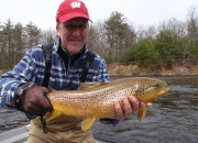 Paul with a Monster Muskegon River Brown Trout