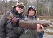 Ed & Bert with a Cigar & Spring Steelhead